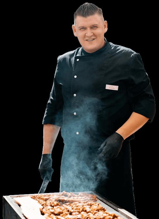Alexander Steinbrenner am Grill